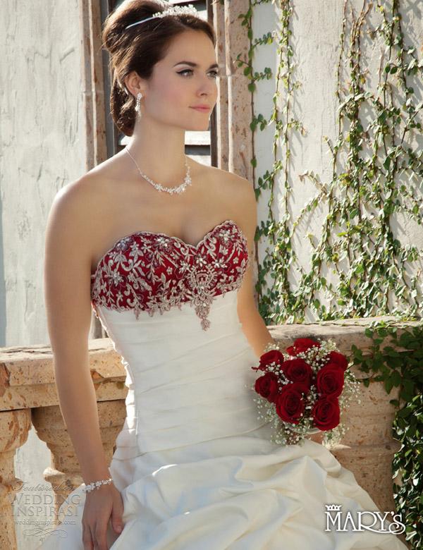 marys bridal 2013 unspoken romance wedding dress red style 6124
