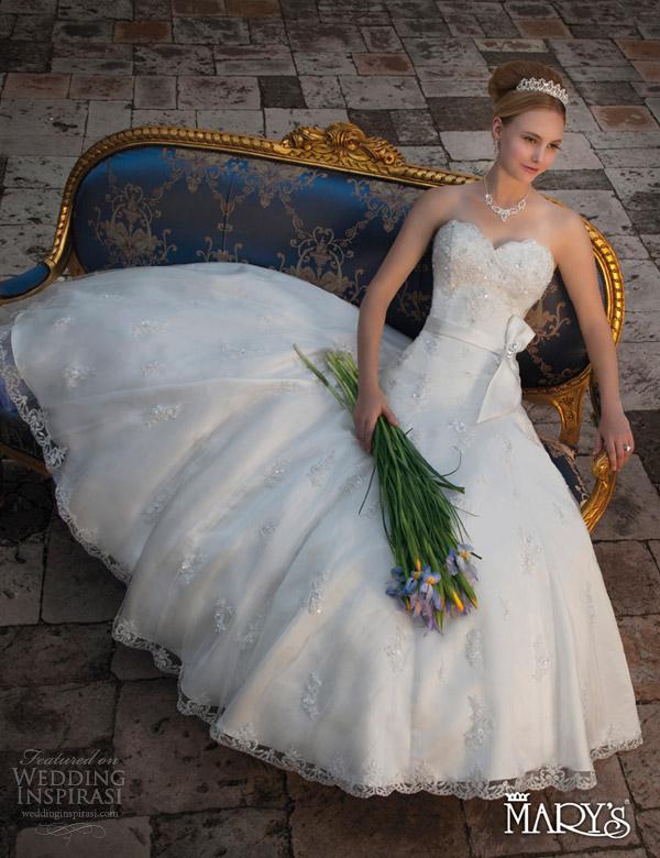 marys bridal unspoken romance 2013 strapless gown 6105