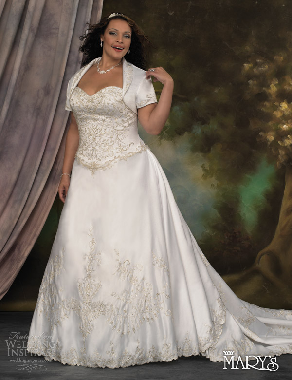 Plus Size Wedding Dresses With Sleeves Or Jackets | Wedding
