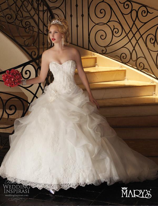 marys bridal wedding dresses 2013 unspoken romance ball gown style 6126