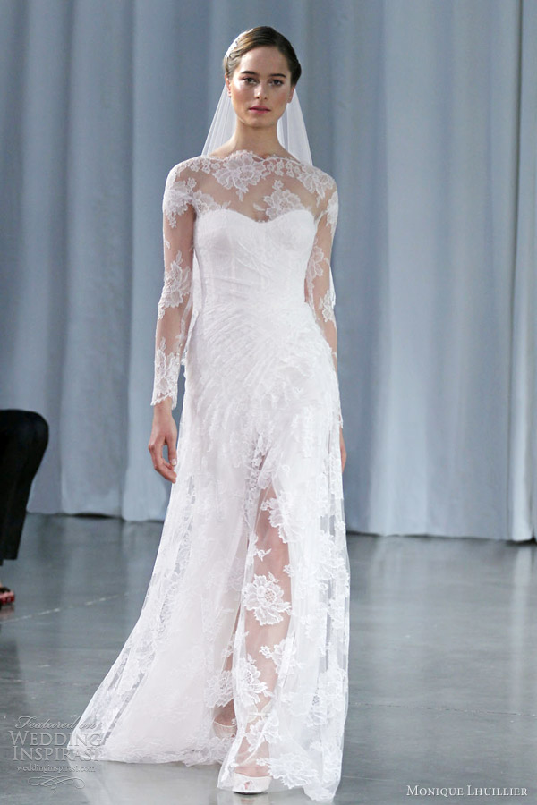 Monique Lhuillier Fall 2013 Wedding Dresses Wedding Inspirasi