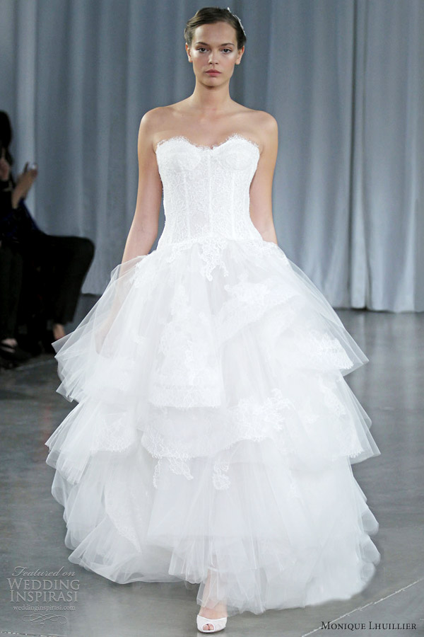 Monique Lhuillier Fall 2013 Wedding Dresses Wedding