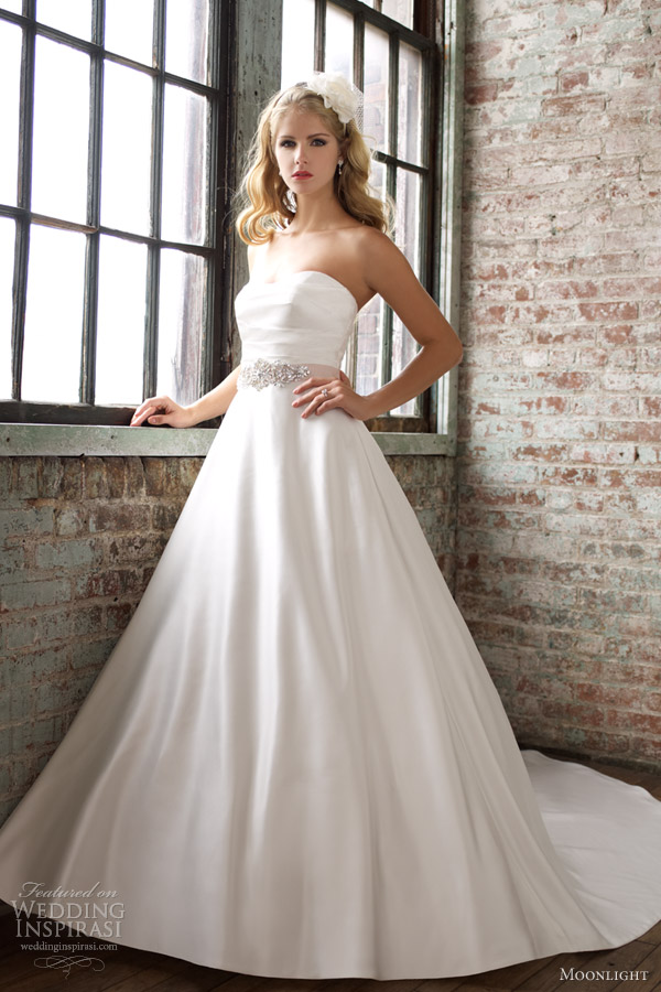 moonlight bridal collection spring 2013 strapless wedding dress j6251