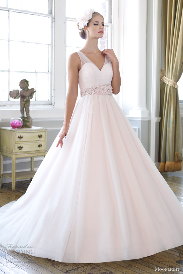 moonlight collection spring 2013 bridal sleeveless ball gown j6265