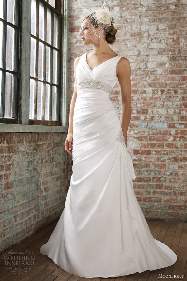 moonlight collection spring 2013 sleeveless a line wedding dress j6258