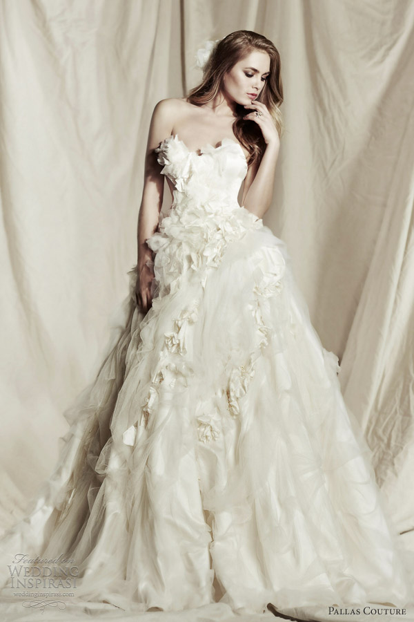 gorgeous wedding dresses from pallas couture 2013 2014 bridal