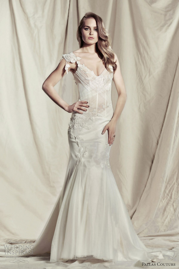 pallas couture wedding dresses 2013 2014 primella gown straps