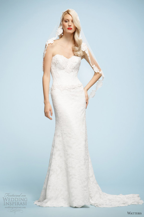 watters 2013 wedding dresses naya strapless lace gown
