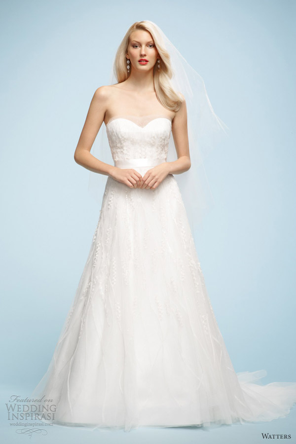 watters bridal spring 2013 bella strapless wedding dress