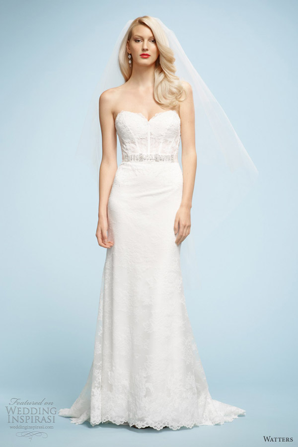 watters spring 2013 bridal salma wedding dress