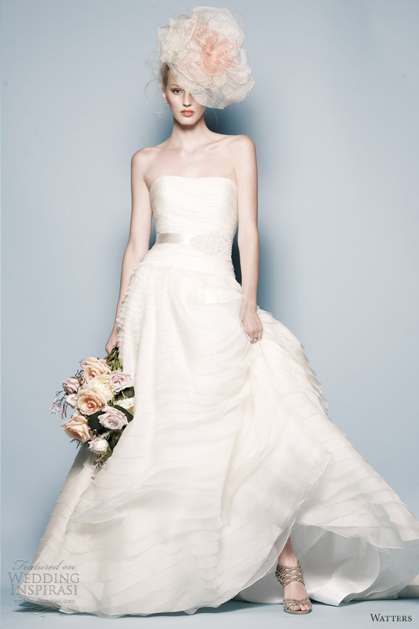 watters wedding dresess spring 2013 esperanza strapless bridal gown