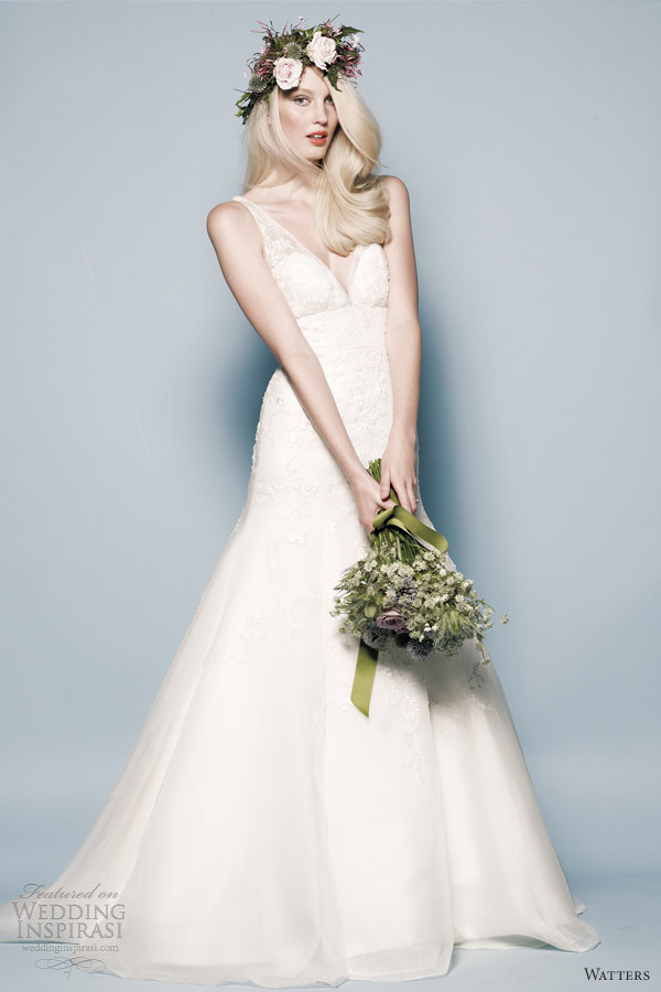 watters wedding dresses spring 2013 jessica sleeveless ilussion straps gown