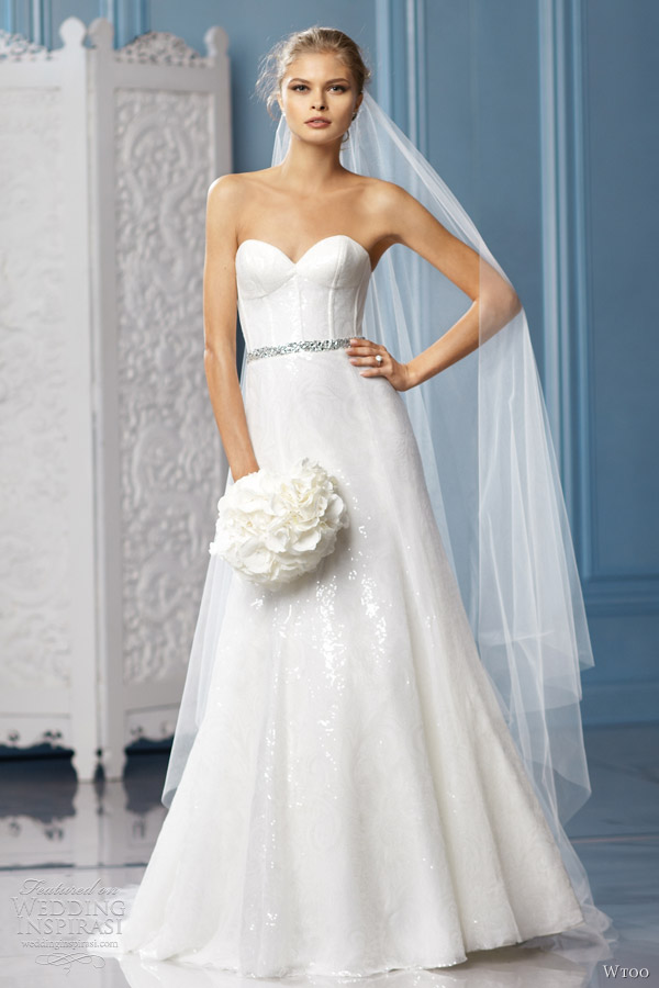 wtoo bridal 2013 charlize wedding dress strapless