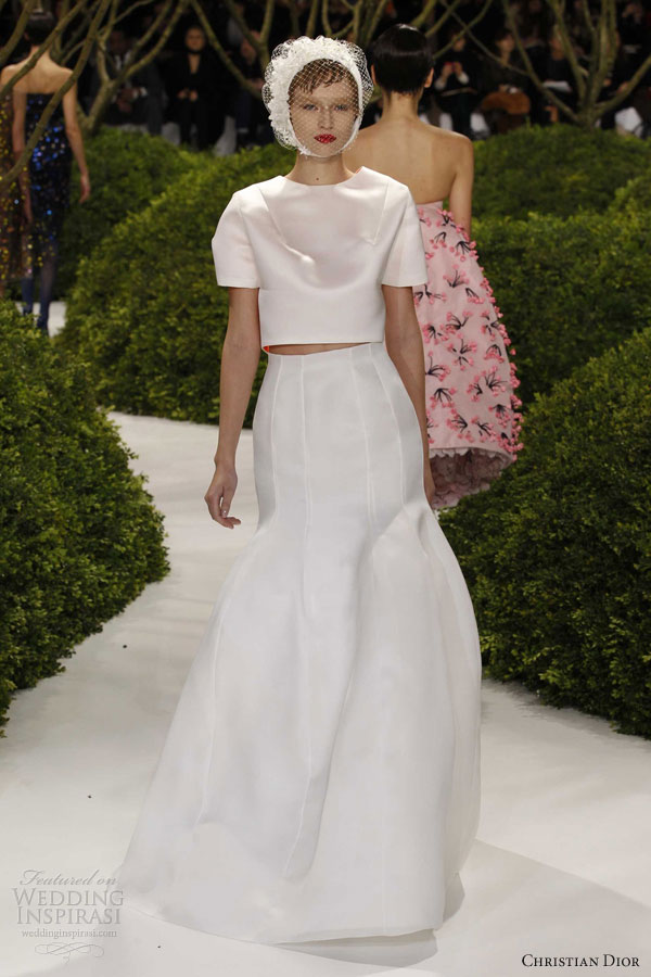 Dior Spring Summer 2017 Couture White Dress Sleeves