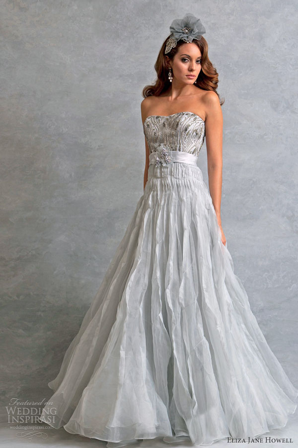 Eliza jane howell wedding dresses legend bridal for Non traditional wedding dress colors