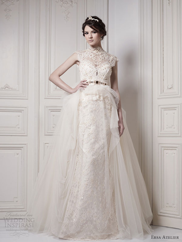 Wedding Dresses  Lace Sleeves : Ersa atelier wedding dresses make way for the queen