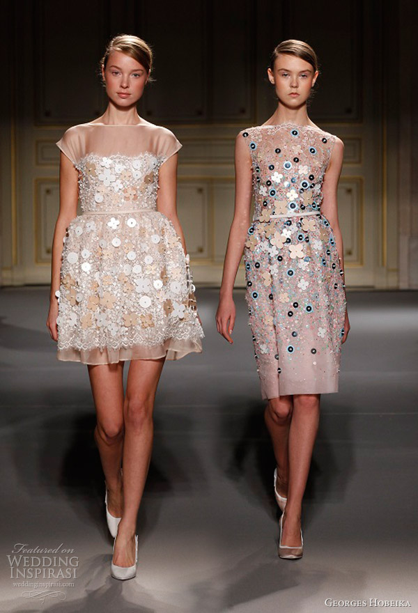 georges hobeika spring 2013 couture short dress appliques