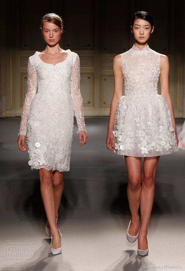 georges hobeika spring 2013 couture short wedding dresses