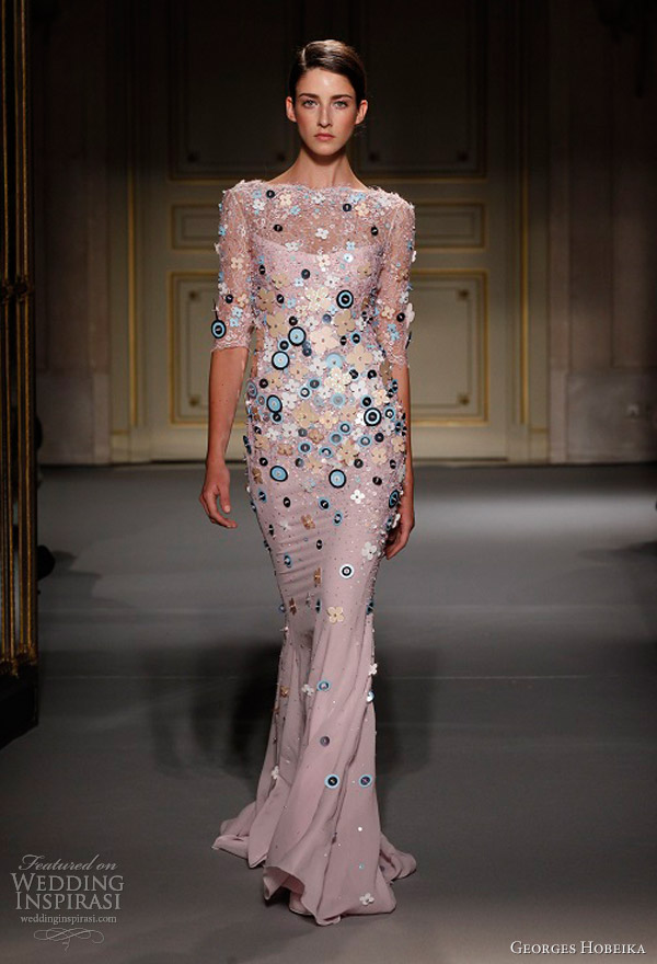 georges hobeika spring summer 2013 couture sheath dress sleeves