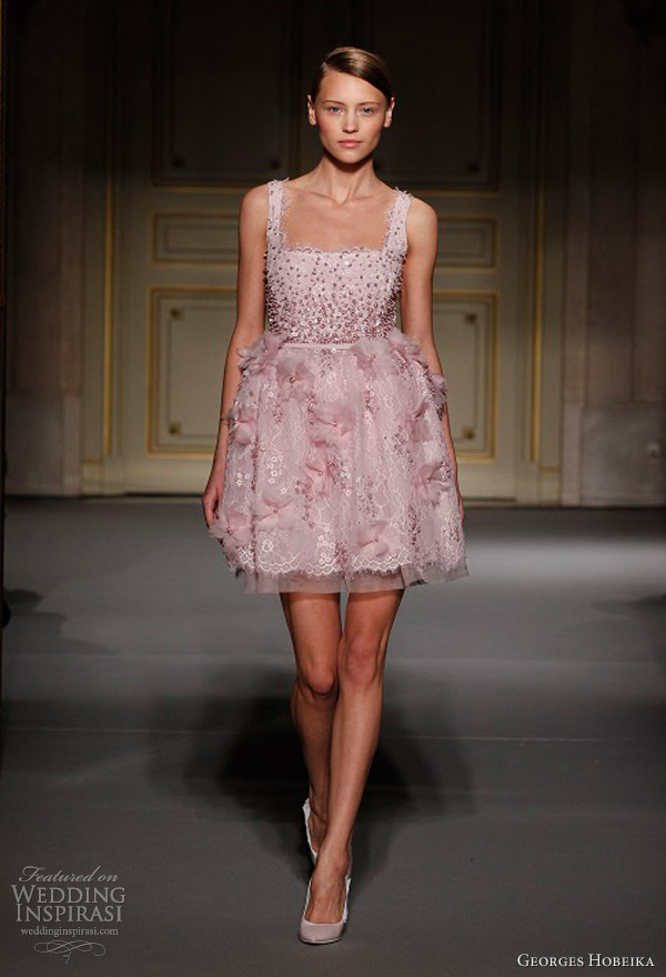 georges hobeika spring summer 2013 couture short dress