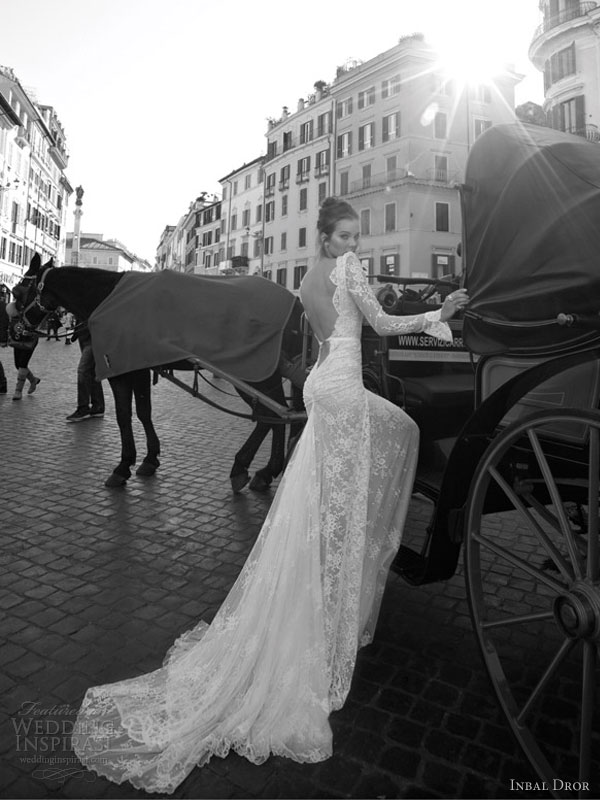 inbal dror 2012 wedding dress side back