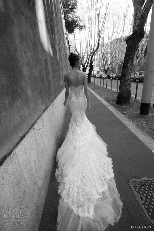 inbal dror bridal strapless mermaid gown train