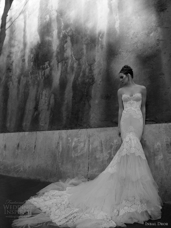 inbal dror bridal strapless mermaid gown