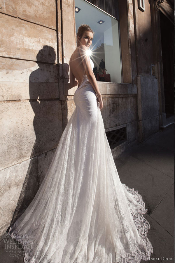 inbal dror glamourous sexy wedding dresses back