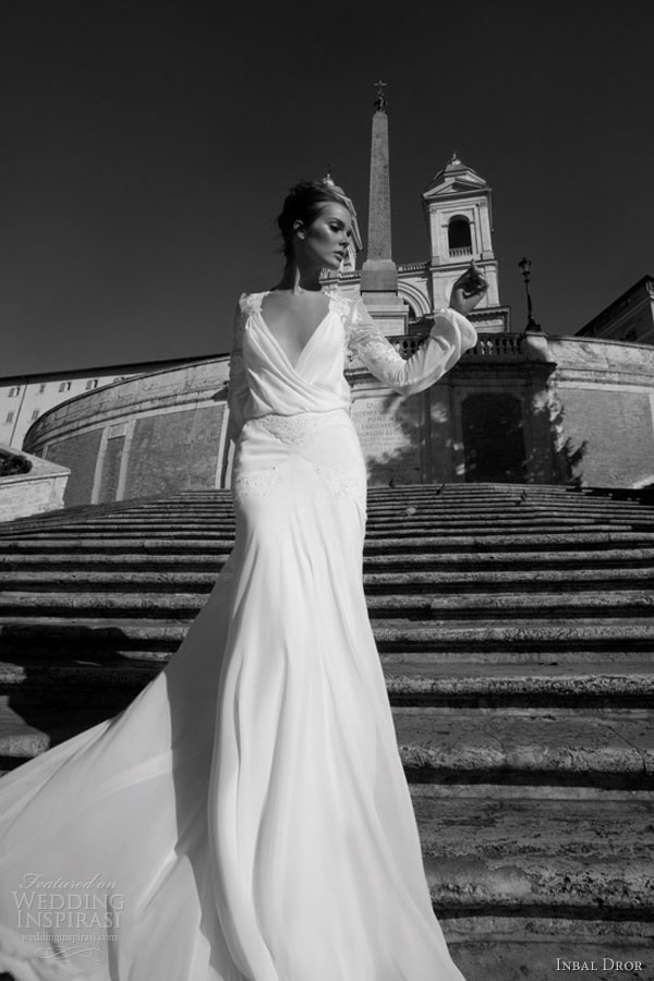 inbal dror long sleeve wedding dress