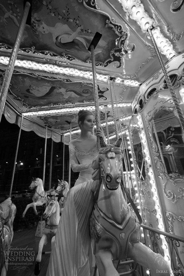inbal dror wedding dress pleated skirt