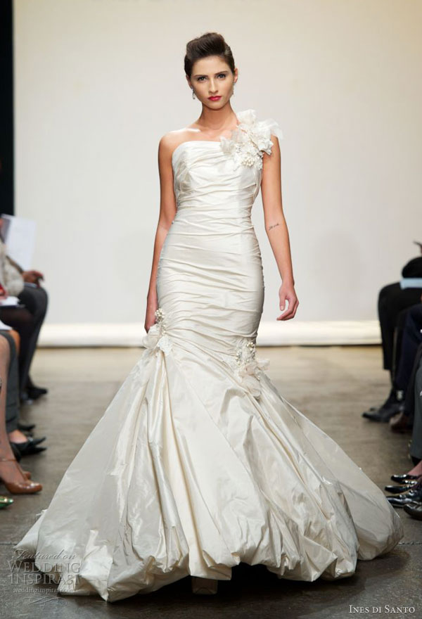 ines di santo spring 2013 mermaid gown padua bubble hem
