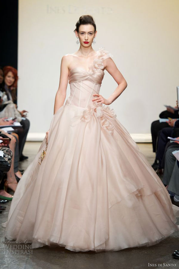 ines di santo spring 2013 pink wedding dress ball gown liberta