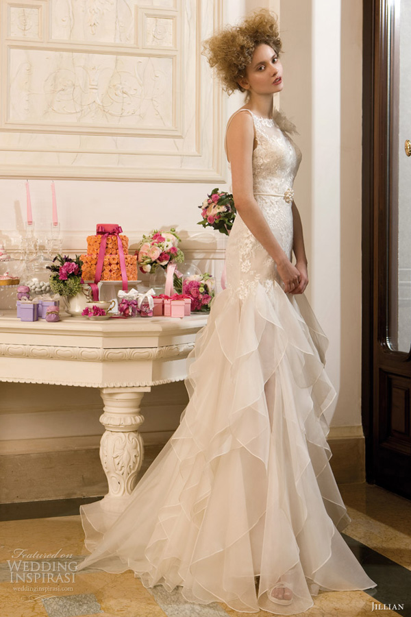 jillian sposa 2013 sterlizia collection sleeveless lace wedding dress