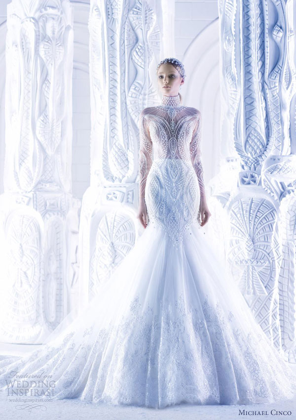 michael cinco spring 2013 wedding dress