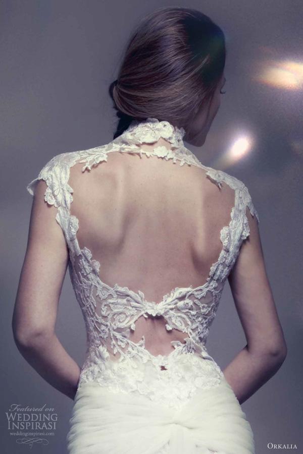 Orkalia 2013 couture wedding dresses wedding inspirasi for Wedding dress with back detail