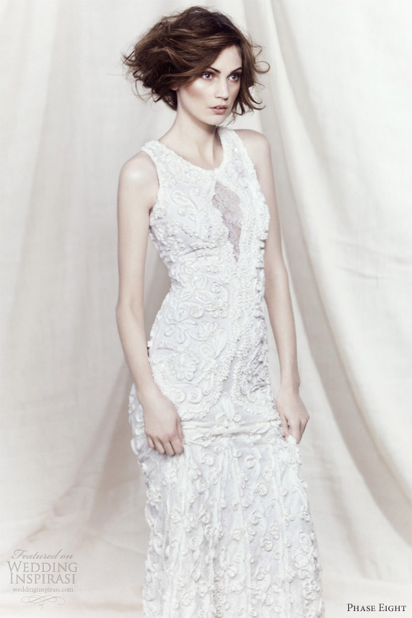 phase eight bridal 2013 louisa ribbon tapework sleeveless wedding dress