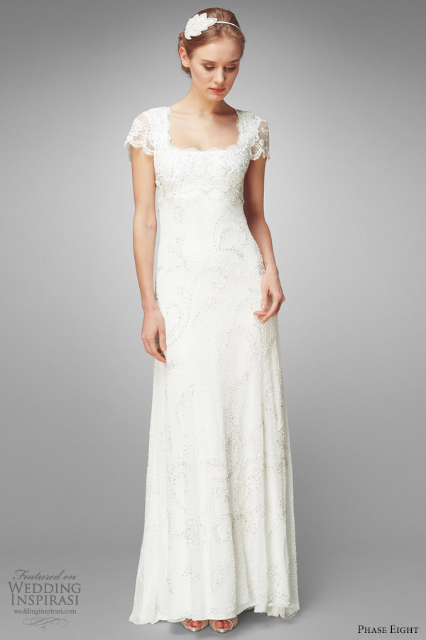 phase eight eliza wedding embroidered dress short sleeve