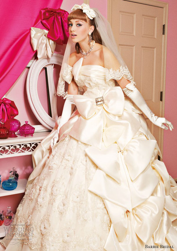 barbie wedding dress 2013 ivory ball gown bb0104