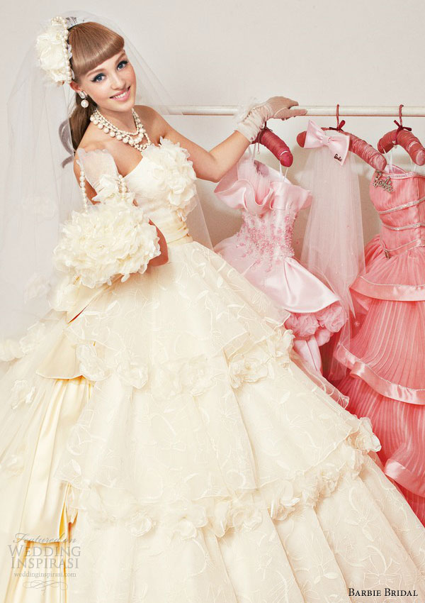 barbie wedding dress 2013 princess ball gown 0100