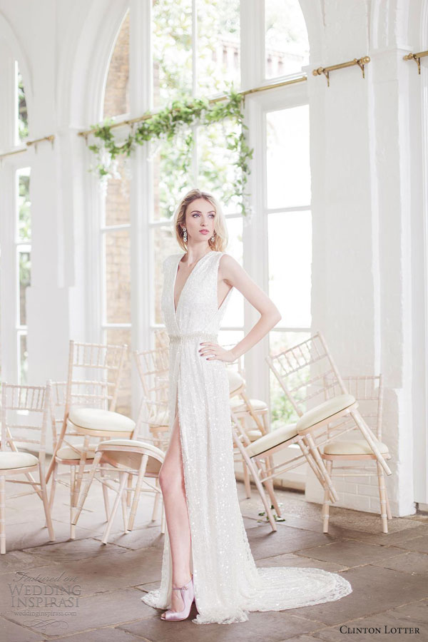 clinton lotter  2013 bianca wedding dress sleeveless