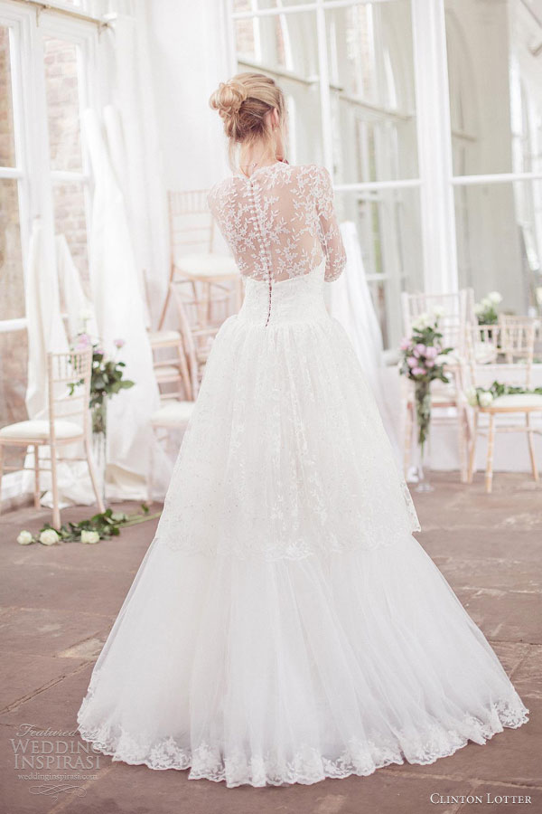 clinton lotter wedding dresses 2012 2013 irene ball gown illusion back