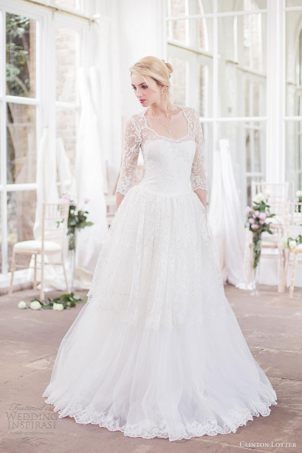 clinton lotter wedding dresses 2012 2013 irene ball gown sleeves