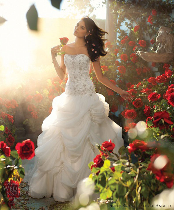 disney fairy tale bridal alfred angelo 2013 belle wedding dress
