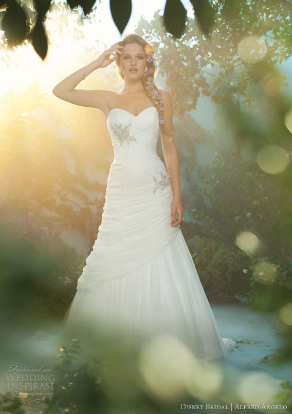 disney fairy tale wedding dress alfred angelo 2013 rapunzel