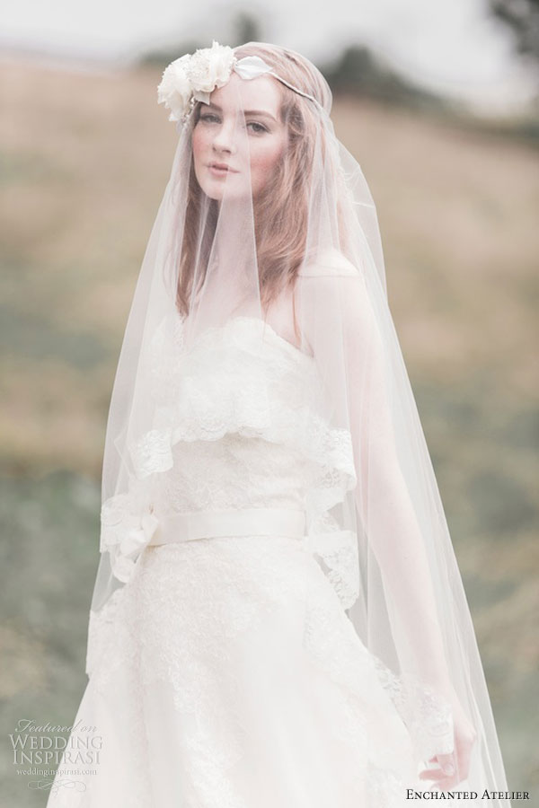 enchanted atelier bridal accessories fall 2013 maud french veil renee floral halo