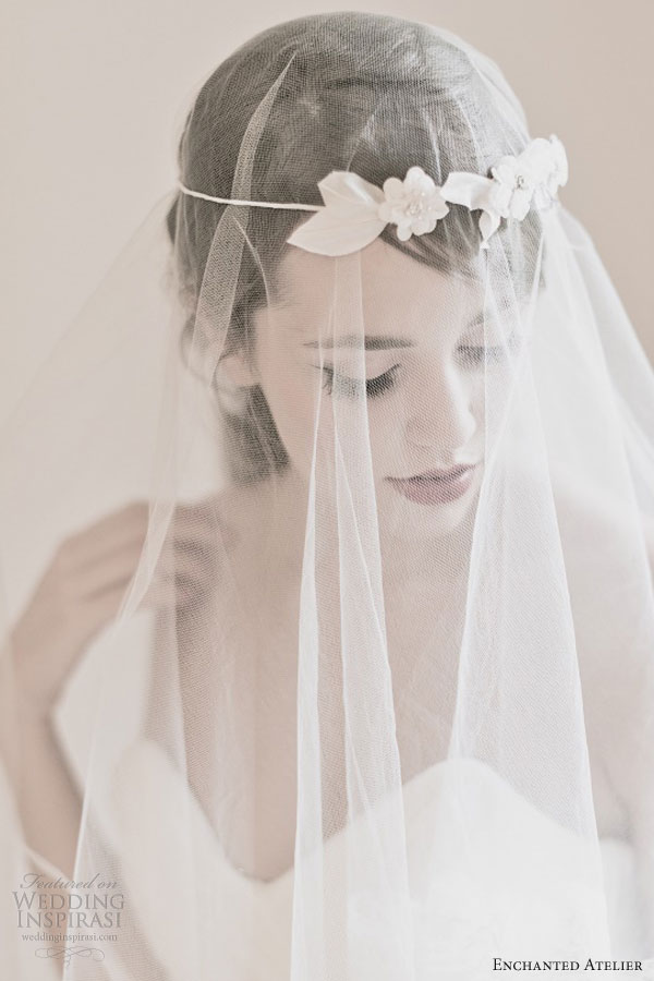 enchanted atelier bridal alessandra floral halo poeme french tulle veil