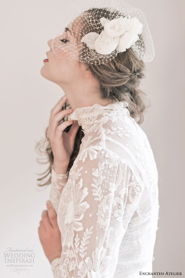 enchanted atelier fall 2013 bridal accessories peony veil