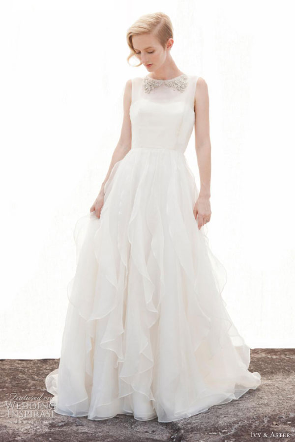 ivy aster fall 2013 my everything sleeveless wedding dress