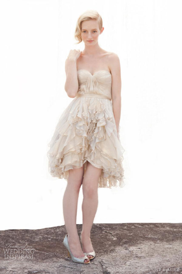 ivy aster fall 2013 sunshine girl short wedding dress