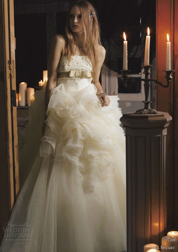jill stuart wedding dress 2013 off white ball gown 0142